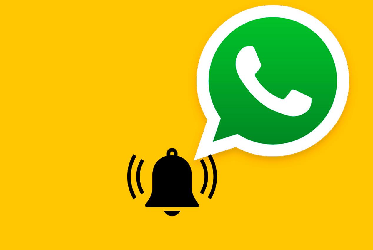 Diferente sonido en las conversaciones privadas y en los grupos de WhatsApp