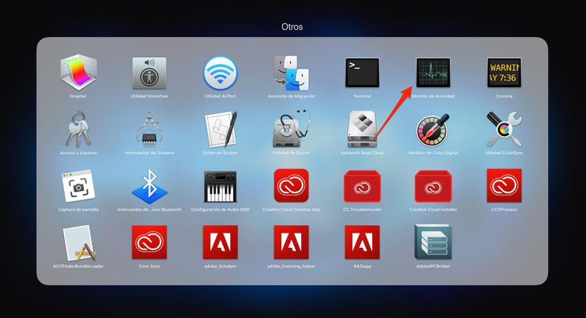Cómo abrir el monitor de actividad de macOS