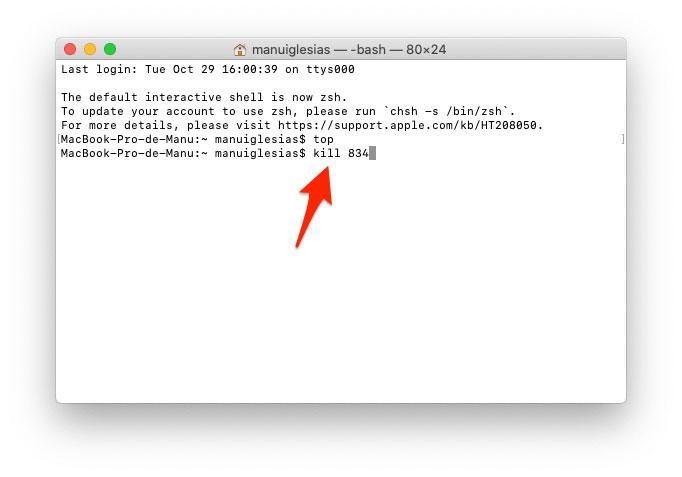 Salir de programas desde el Terminal en Mac