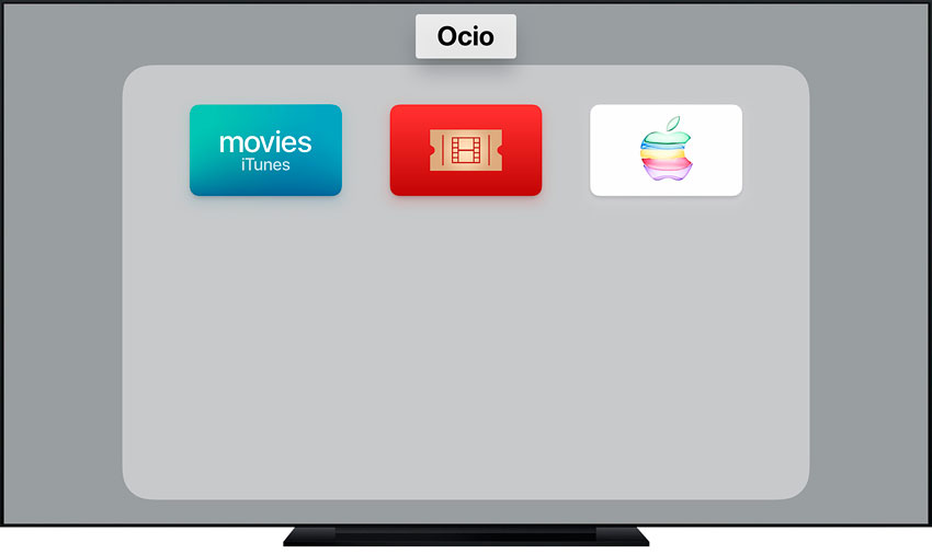 Crear carpeta de apps en el Apple TV