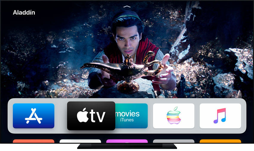 Mover aplicaciones en el Apple TV
