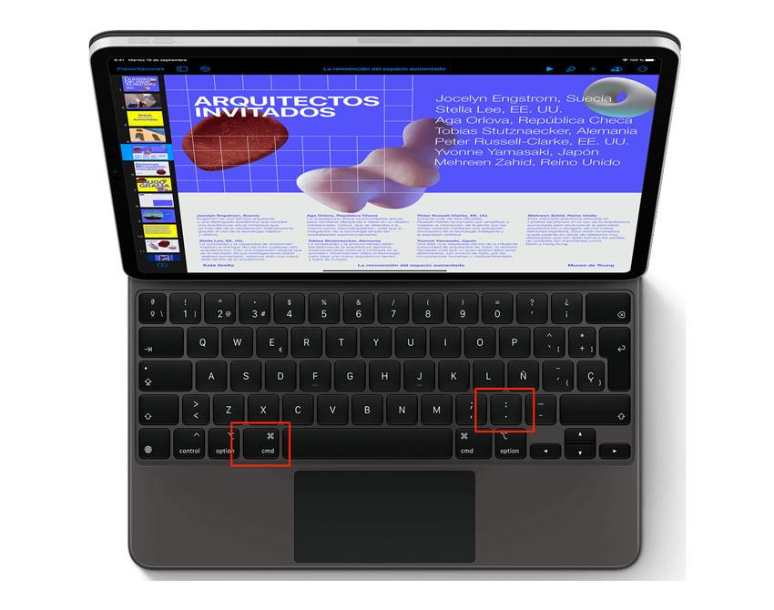 Atajo de teclado para invocar ESC en iPad Pro
