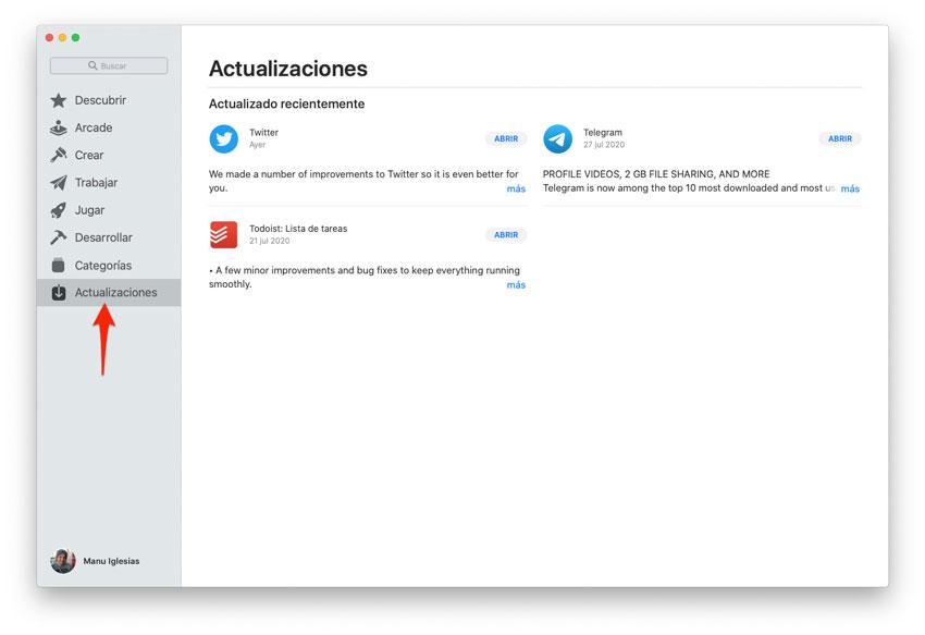 Actualizar todas las apps instaladas