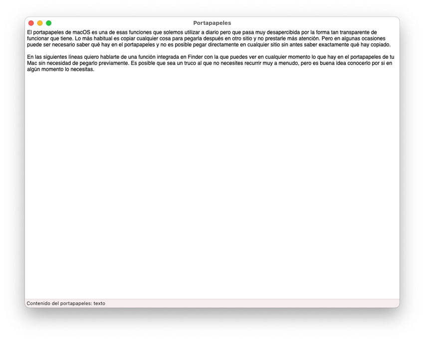 Vista Previa del Portapapeles en Mac