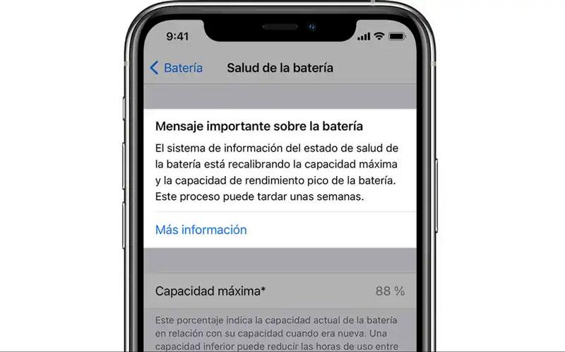 Calibración batería del iPhone 11 a través de actualización de software