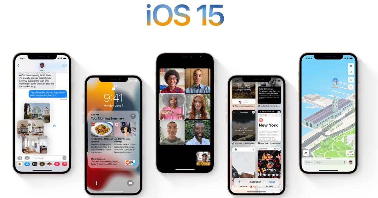 Listado de iPhone compatibles con iOS 15