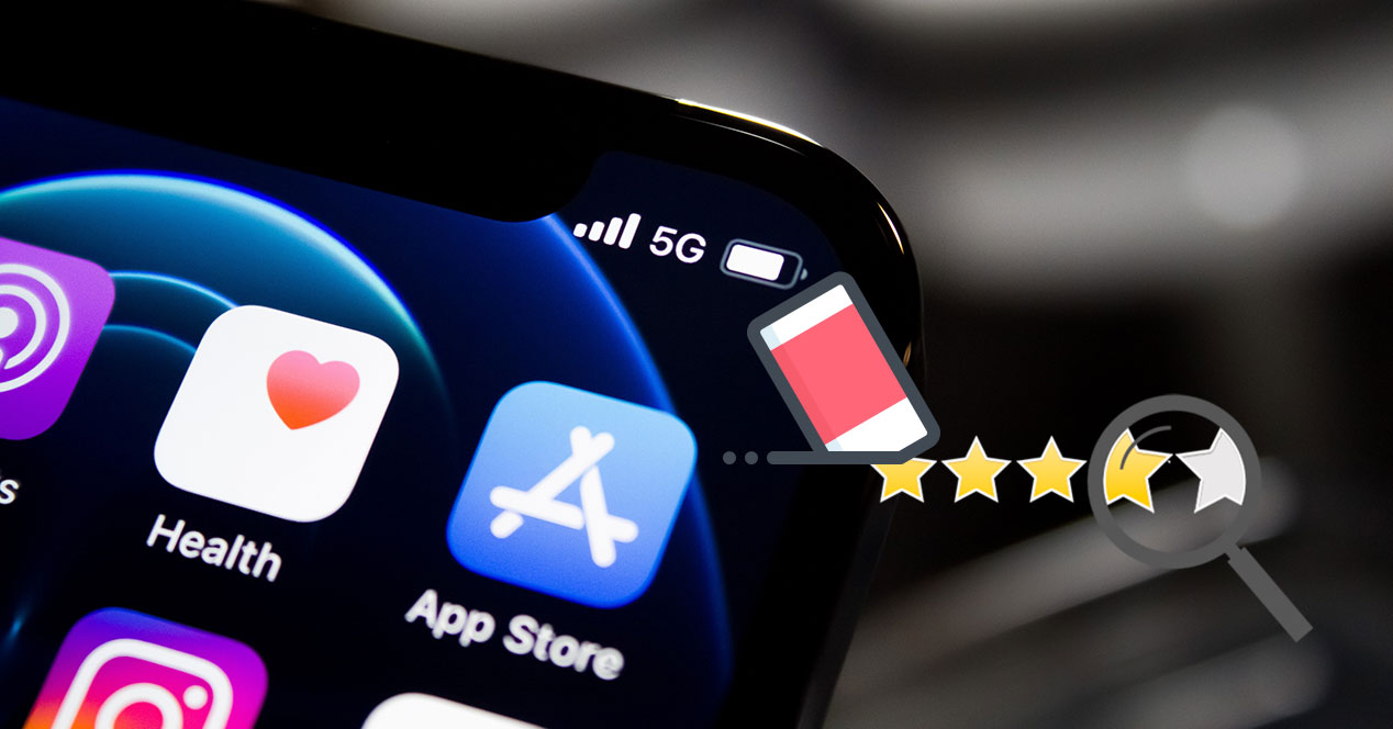 Borrar valoración App Store