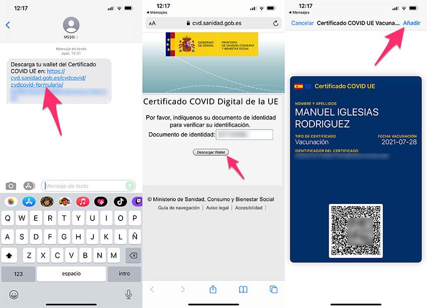 Descargar el certificado covid digital para Apple Wallet