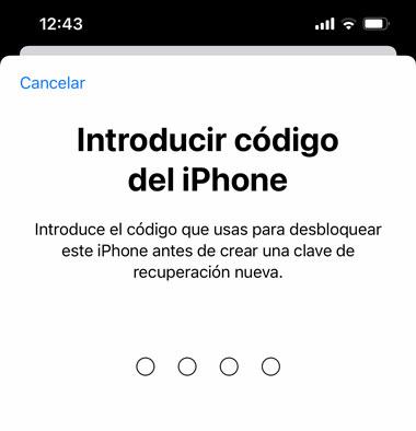 Código de seguridad del iPhone